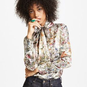 Sale Tory Burch Vanessa Bow Blouse in Melody Flora